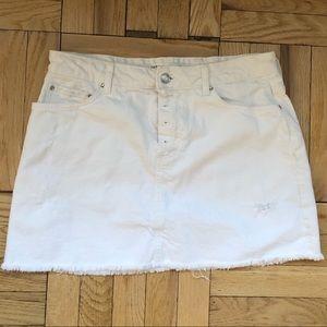 Zara Denim large white skirt